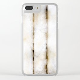 Weathered Alabaster (vertical) Clear iPhone Case