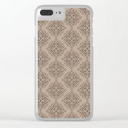 Damask Pattern III Clear iPhone Case