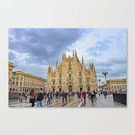 Busy Piazza Duomo Canvas Print
