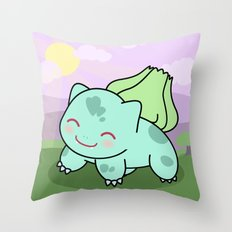 Cute Bulba  Throw Pillow