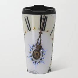Portrait of an old watch face Travel Mug