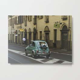 PHOTOGRAPHY - Fiat 500 in Turin Metal Print