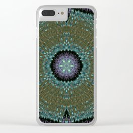 Unbelievable Mirror Mandala 1 Clear iPhone Case