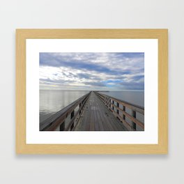 Fishing Pier at Rockport Beach Framed Art Print