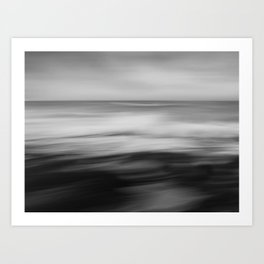 The waves dance Art Print