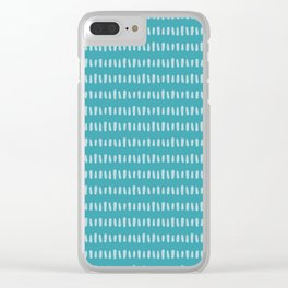 Bold Pattern Turquoise Clear iPhone Case