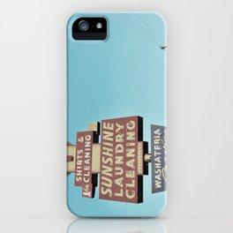 Sunshine Laundry Cleaning iPhone Case