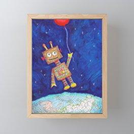 robot love Framed Mini Art Print