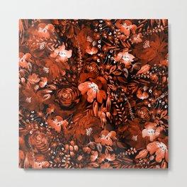Floral Chaos - Fall Metal Print