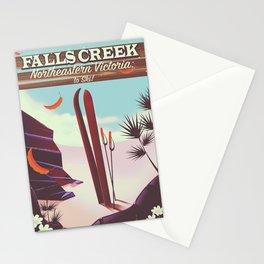 Falls Creek, Northeastern Australia Ski poster, Stationery Cards