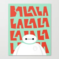 big hero 6 Canvas Prints featuring Big Hero 6 by Emily Hong