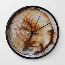 Tree of life in an old wash bowl Wall Clock