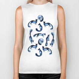 A pack of silver foxes. Biker Tank