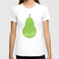 """onesie T-shirts featuring Pear Green Onesie """"Pearfect"""" by Spilling Beans"""
