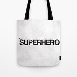 Superhero - gray wallpapers Tote Bag