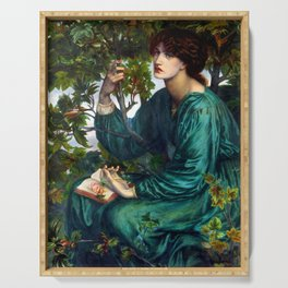 """Dante Gabriel Rossetti """"The Day Dream"""" Serving Tray"""