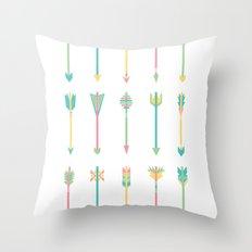 Pastel Arrows Throw Pillow