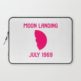 Moon Landing Funny 1969 Space 50th Anniversary Quote Laptop Sleeve