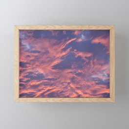 Fiery Sky Framed Mini Art Print