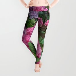 Hydrangeas Leggings