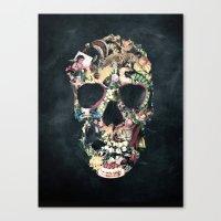 skull Canvas Prints featuring Vintage Skull by Ali GULEC