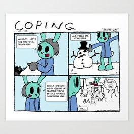 "Coping #21: ""Snow Day"" Art Print"