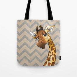 Chevron Giraffe! Tote Bag