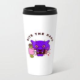 Bite the Hand Metal Travel Mug