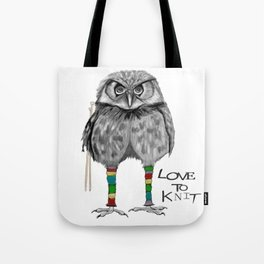 loves to knit Tote Bag