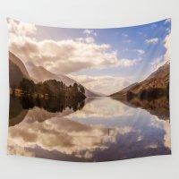 scotland Wall Tapestries featuring Loch Shiel, Scotland by Sierra Whiskey Bravo