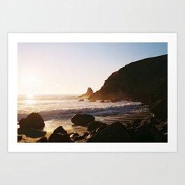 Sonoma Coast Golden Hour - 35mm film Art Print
