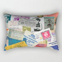 Concert Ticket Stub Backstage Passes - The Boss Rectangular Pillow