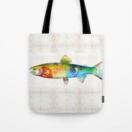 Rainbow Trout Art by Sharon Cummings Tote Bag