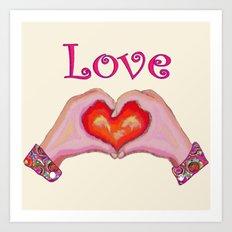 Love Hands Art Print