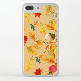 fall autumn Clear iPhone Case