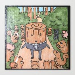 little log guy Canvas Print