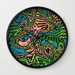 Cartoon Camouflage Abstract Art Pattern Wall Clock