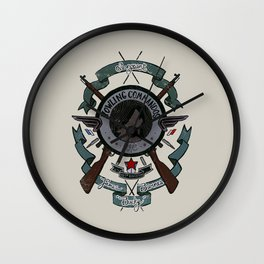 Sgt Bucky Barnes (blue) Wall Clock