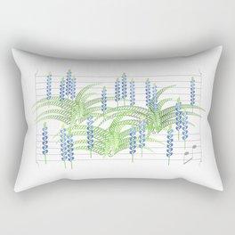 Fortissimo Fern & Flat Lupine Rectangular Pillow