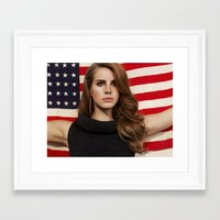 american Framed Art Prints featuring American by Michelle Rosario