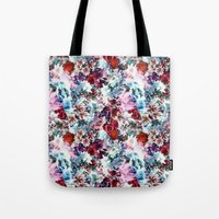 floral pattern Tote Bags featuring Floral Pattern by Eduardo Doreni