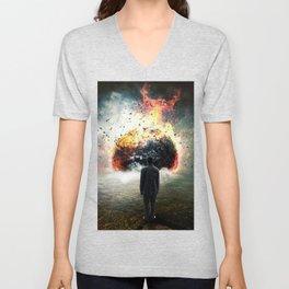 Planet Exploding by GEN Z Unisex V-Neck