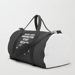 When Does Hibernation Start Funny Quote Duffle Bag