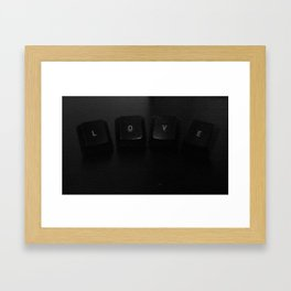 Geek Love Framed Art Print