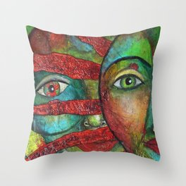 Facing the Sun 2 Throw Pillow