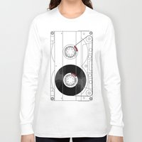 cassette Long Sleeve T-shirts featuring Cassette by T.K.O.