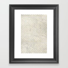 gOld grid Framed Art Print