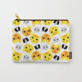 Cat Faces Carry-All Pouch