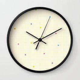 Checked Pattern_P Wall Clock