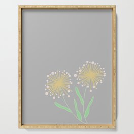 Simple Gray Dandelions || Make a Wish Serving Tray